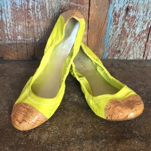 BGBGeneration Neon Yellow/Green Ballet Flats